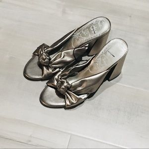 🆕 Metallic Knotted Heels! 🆕